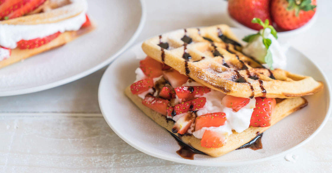 Honey Berry Waffle Sandwich Recipe